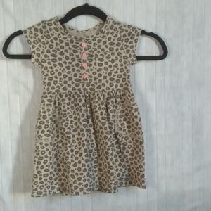Carter's leopard print little girls dress